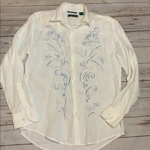 Men's Cubavera linen shirt size small